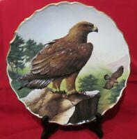 BIRDS OF PREY Plate- Spode Gilt Rim Golden Eagle Plate-David A Finney Plate N 1