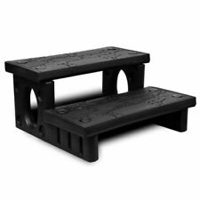 vidaXL 90717 Durable Spa Steps - Black