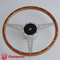 15'' Classic Riveted wood steering wheel Restoration Austin Healey ,3000, Sprite