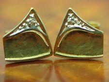 8kt 333 GIALLO ORO orecchini a bottone con guarnizione in Diamante Orecchini// 1,4g