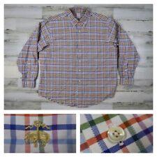 Brooks Brothers Mens XL Multicolor Blue Plaid Checks Button Front Sport Shirt
