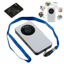 White Personal Summer Pocket Cooling Fan Rechargeable Lithium Battery Operated