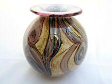 More details for isle of wight studio gemstone topaz glass vase c.1993 labelled