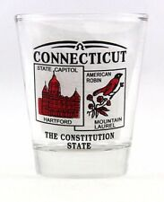 CONNECTICUT STATE SCENERY RED NEW SHOT GLASS SHOTGLASS