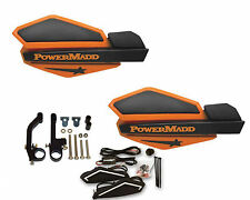 Powermadd Star Series Handguards Guards LED Kit Orange Black Snowmobile Ski Doo