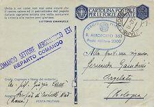 Z786) WW2 AVIAZIONE BOLLO R. AEROPORTO 353 E COMANDO SETTORE AERONAUTICO EST.