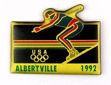 PINS SPORT JO JEUX OLYMPIQUES ALBERTVILLE 1992 SKI TEAM USA