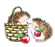 Penny Black Hedgey Hedgy Hedgehog Gift Wood-Mounted Rubber Stamp Free US Ship