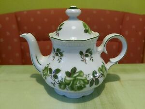 Mitterteich bavaria ( grüne Rose ) kleine Teekanne Gebraucht