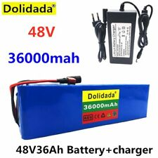 48V 36Ah ebike battery pack 1000W high power + charger NEW lithium ion Tech.