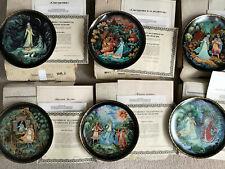Lot 6 Bradford Exchange Legend of Snowmaiden Russian Collectors Plates Coas Box