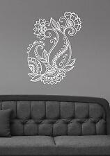 Henna Paisley Flower Wall Sticker Floral Pattern Vinyl Decal Ornament Decor mh5
