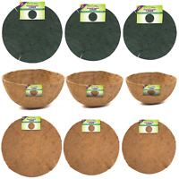 """Coconut Fibre or Jute Hanging Basket Planter Liners Available in 12"""" 14"""" or 16"""""""