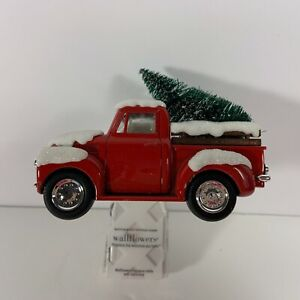 Bath & Body Works Little Red Truck Wall Flower Unit with Christmas Tree New