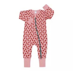 Baby Apple Zipper Romper Sleepsuit Red Pink Age 18-24 Months