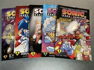 SONIC SAGA SERIES VOLUME 1-5 (2012-2014) TPB COLLECTS ISSUES #162-186 ARCHIE