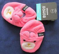 Bonds Baby Slippers Infant Girls Pink Grip Non-Slip Socks Booties Size 00 10cm