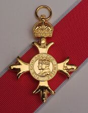 Full Size OBE Civil Medal With 2nd Type Civil Ribbon - Superb Quality