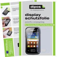 2x Samsung Galaxy Pocket Duos S5302 matt Displayschutz Antireflex Folie