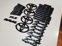 Toyota 2014 - 2021 Black Emblem Overlays Genuine OEM FACTORY Parts **Authentic**