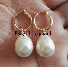 Charme groß Weiß Shell Pearl Ohrreifen, 13*18 mm