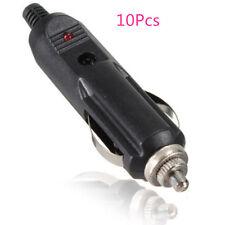 10Pcs12V With Fuse Red LED Male Car Cigarette Lighter Socket Plug Connector DIY