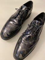 Prada Derby Camouflage Schuhe Herren Reben Leder US 11 Wie Neu