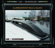 RENAULT KANGOO 2008+Onwards 2x BLACK ALUMINIUM ROOF RAILS BARS RACKS SET NEW