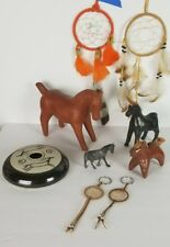 Horse Collectable LOT Southwestern Tribal Figurine Pottery Oaxaca Whistle