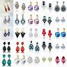 1 Pair Crystal Rhinestone Ear Stud Fashion Elegant Dangle Drop Earrings Jewelry