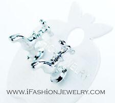 Silver Water Tap Stud Earrings 3D Rock Punk Creative Unisex Men Fashion Jewelry