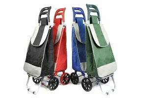 Large Lightweight Wheeled Shopping Trolley Push Cart Luggage Bag with wheels New