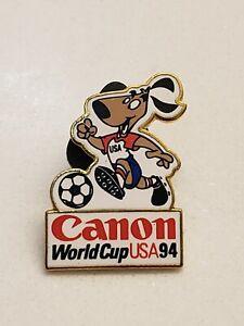 Vintage FIFA, 1994 Canon World Cup USA Lapel Pin, Dog/ Soccer Ball Aminco 1992