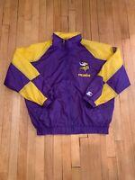 Minnesota Vikings Vintage 90's Starter Jacket Full Zip  EUC Large NFL RARE SKOL
