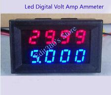 NEW DC 0-200V 0-200A Led Panel Volt Amp Combo Meter Digital Voltmeter Ammeter