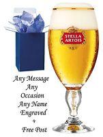 Personalised Stella Artois 1 Pint Chalice Beer Glass Engraved Best Man Gifts