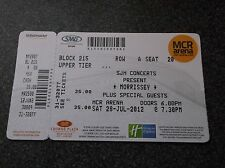 MORRISSEY  TICKET STUB  MANCHESTER ARENA 28th  JULY  2012
