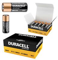 GENUINE 10 X DURACELL MN21 A23 12V ALKALINE BATTERY 23A K23A E23A V23GA IN BOX