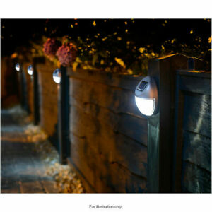Outdoor Solar Powered Led Garden Fence Wall Lights Patio Security Lamps 10 Pack