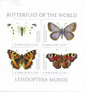 SIERRA LEONE Butterflies Mini Sheet  MINT NH