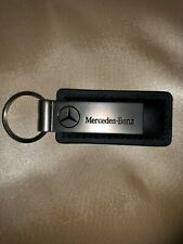 NEW MERCEDES-BENZ OF ANAHEIM BLACK LEATHER KEY CHAIN (Keyring/Ring)