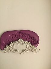 silicone mould  Scroll  ( Wedding Topper Dolls House Cupcake Valentine Plaster