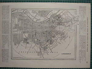 1926 MAP ~ LOUISVILLE KENTUCKY CITY PLAN RAILWAY STATIONS OHIO RIVER CEMETERY