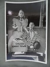 Vintage B&W Victoria BC Newspaper Photo Calico Ghost Town Photo Prop Man/Woman