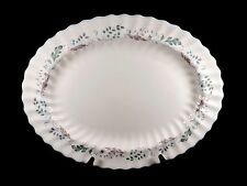 "BEAUTIFUL ROYAL DOULTON  GLEN AULDYN HUGE 16"" OVAL PLATTER SCALLOPED EDGE FLORAL"