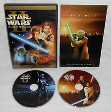 Star Wars Episode II: Attack of the Clones DVD 2002 2 Disc Set, Widescreen Used