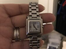 Chopard Stainless Steel 5 Floating Diamonds Happy Sport Square Quartz Watch