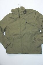 Polo Ralph Lauren Men's Perry Windbreaker Jumper Olive  Hoodie Jacket Large L