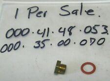 JLO ROCKWELL CRANKCASE VACUUM HOLE PLUG W GASKET L-227 L-252 R-295 L340