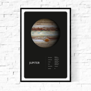 Planet Jupiter From Space Facts Fine Art Premium Canvas Giclee Print